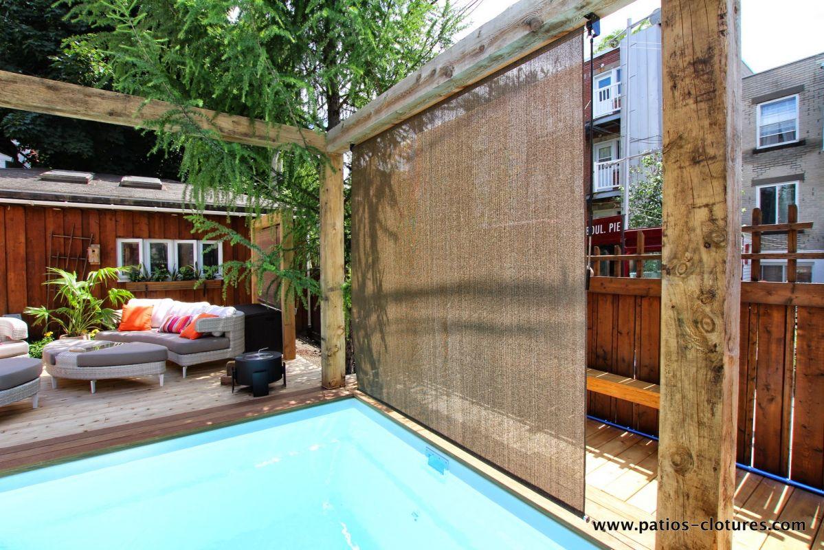 Rideaux pour piscine remarquable rideaux chambre petite for Rideaux pour terrasse exterieur