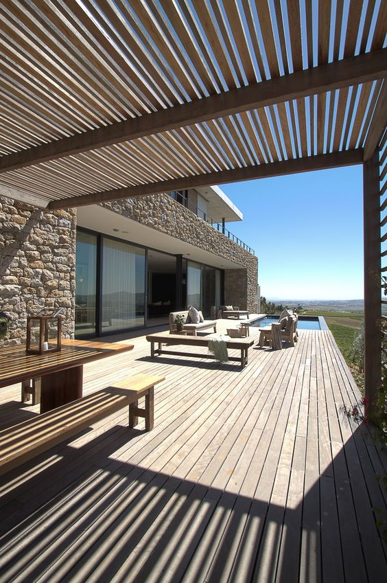 Magnifique terrasse en bois