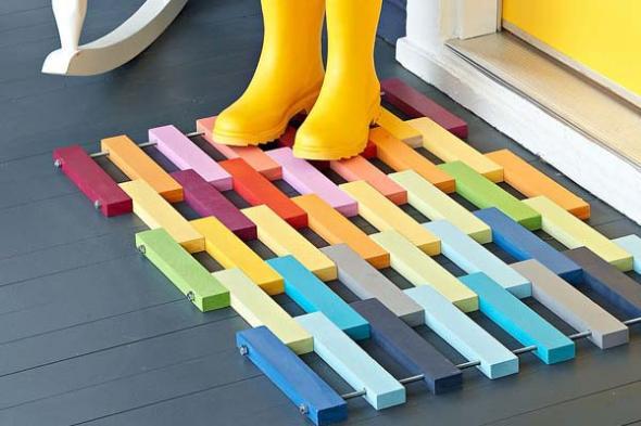 Idées de tapis d'entrée style légo