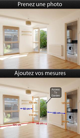 Application Photos Mesures pour iPad, iPhone et iPod touch