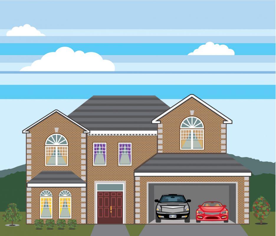 Maison avec garage double