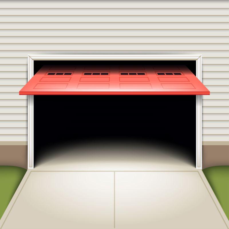 Garage double avec porte de garage électrique