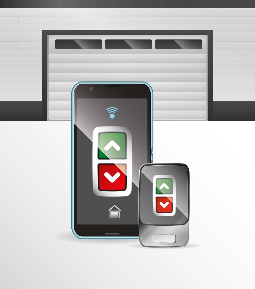 Porte de garage électrique commandé par manette et application iPhone, Android ou téléphone intelligent