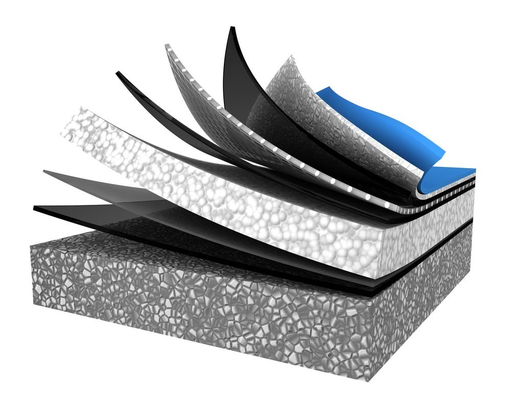 Image d'un couvre plancher mulkticouche qui favorise l'inertie thermique