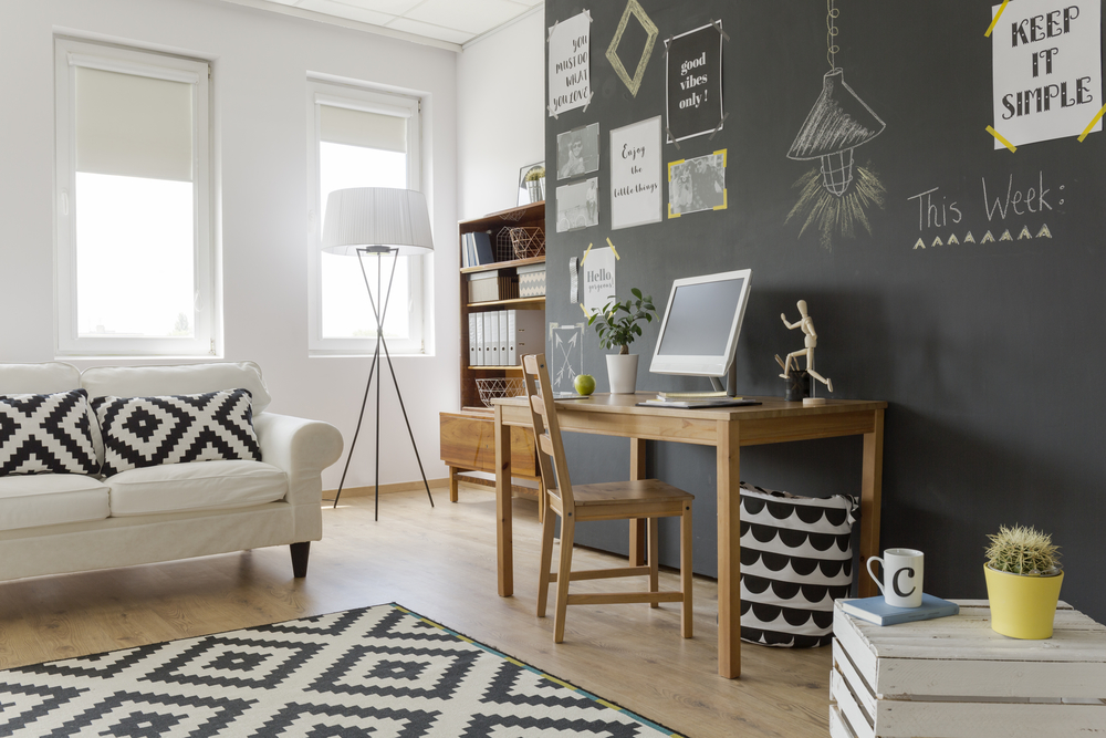 d co le mur d ardoise une tendance qui a du style. Black Bedroom Furniture Sets. Home Design Ideas