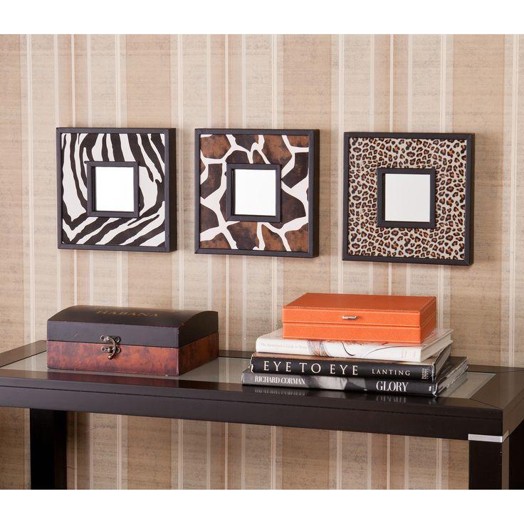 Table d'entrée avec cadre à motif de léopard