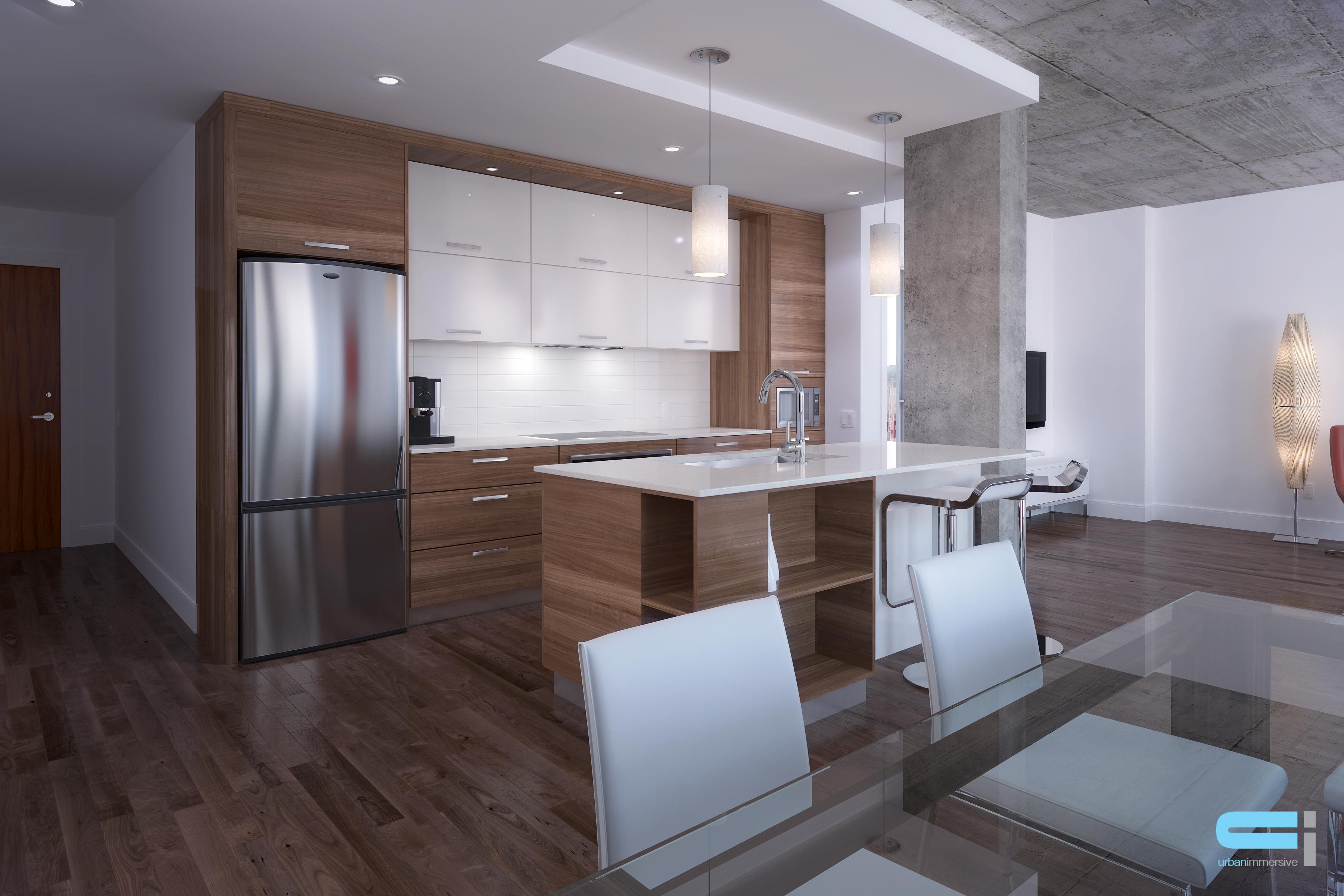 Vu sur cuisine au design de style minimaliste
