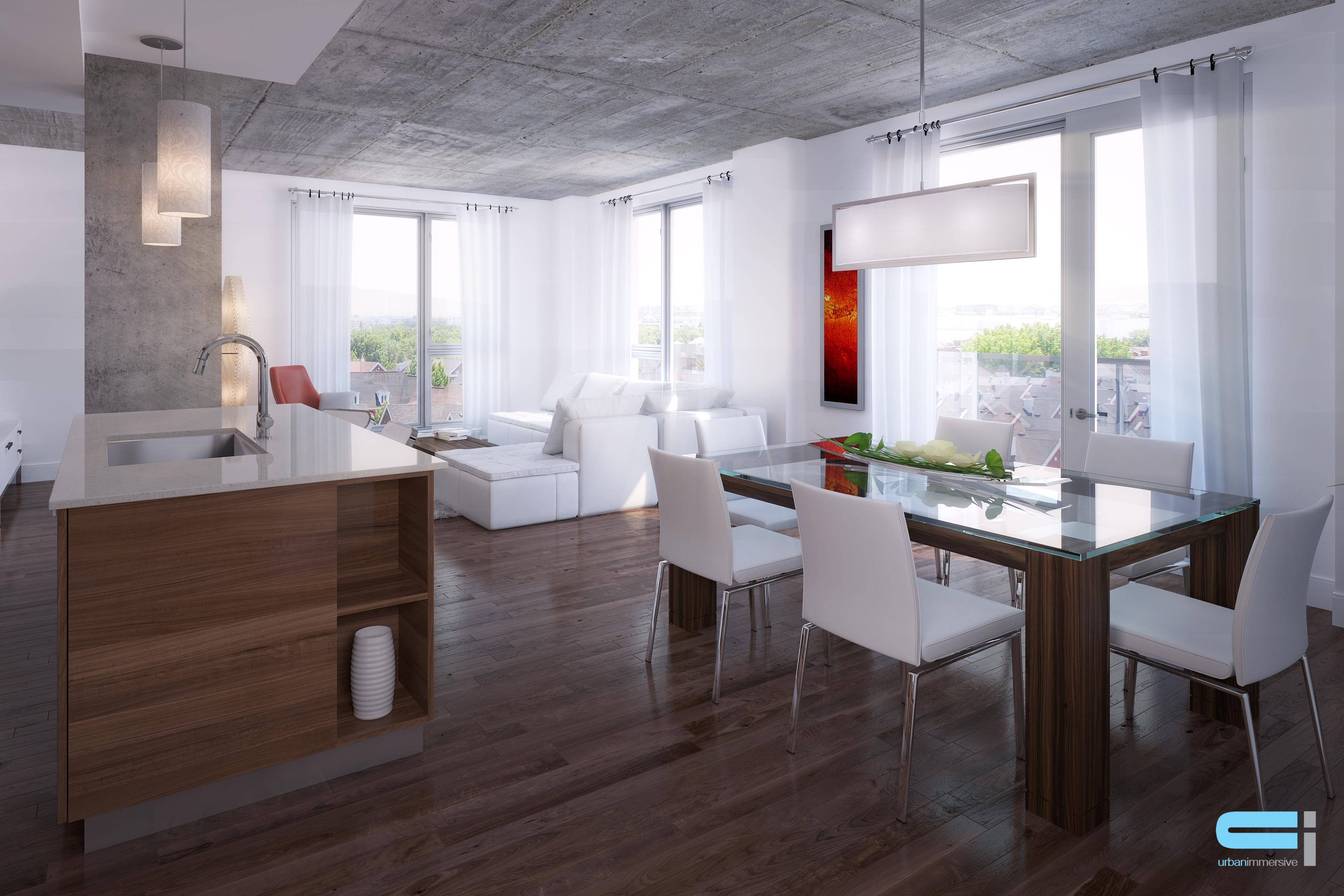 Exemple de décoration intérieur de style minimaliste.