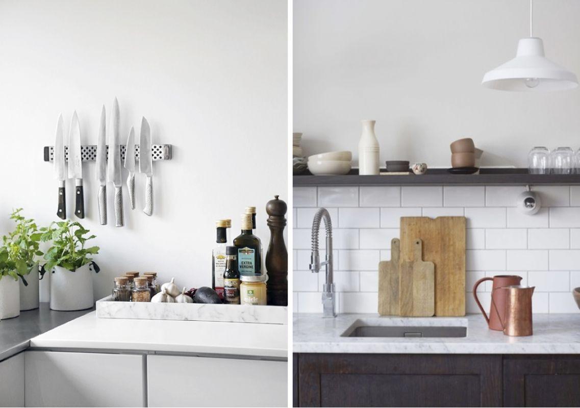 Décorations de cuisines avec accessoire et comptoir de marbre