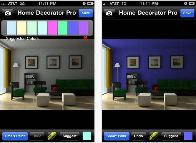 Application Home decorator pour iPhone et iPad