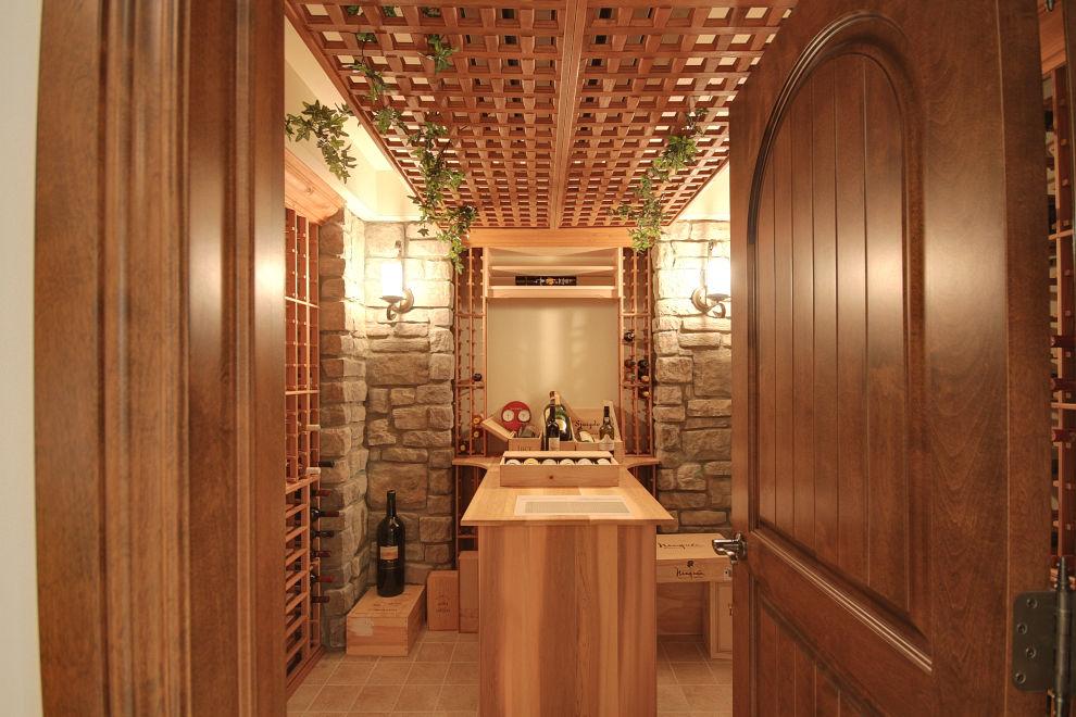 une cave vin ou un cellier dans la maison. Black Bedroom Furniture Sets. Home Design Ideas