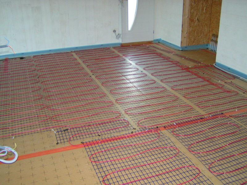 Image qui représente la construction d'un plancher chauffant