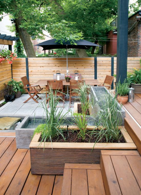 Amenagement petit jardin avec terrasse deco jardin for Jardin paysager avec terrasse