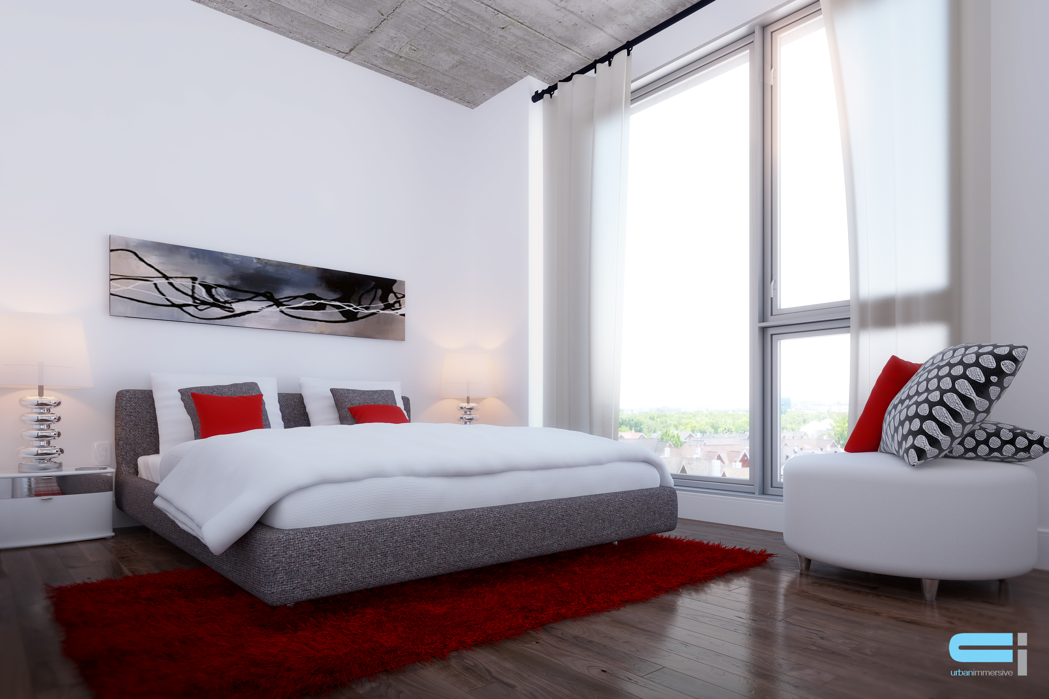 Chambre à coucher des maitres de design épuré
