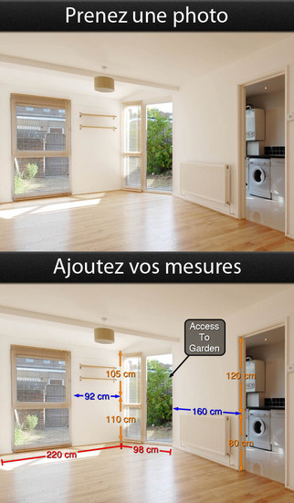 Application Photos Mesures pour iPad, iPhone et iPod touch