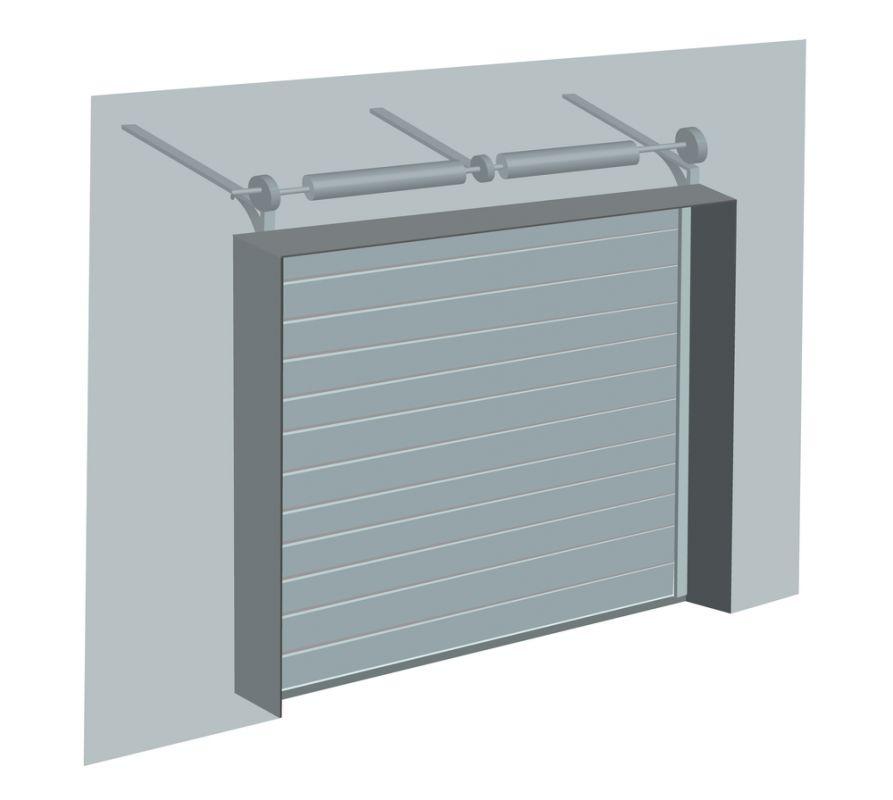 Dessin de la mécanique du système de poulie d'une porte de garage