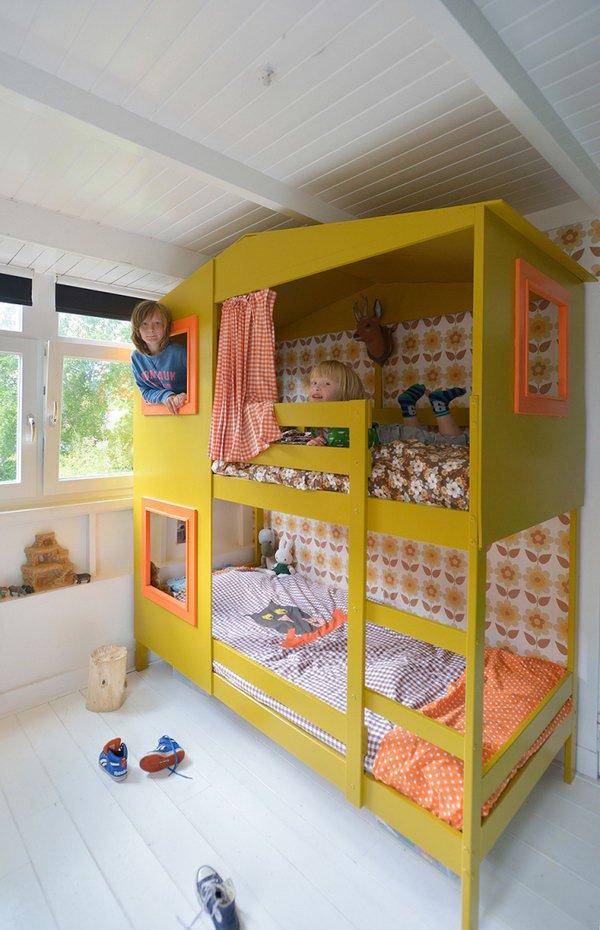 Lit superposé pour enfant modifier en cabane de jeu