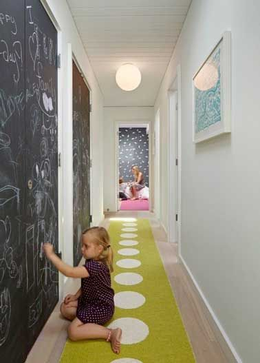 Mur d'ardoise dans un corridor