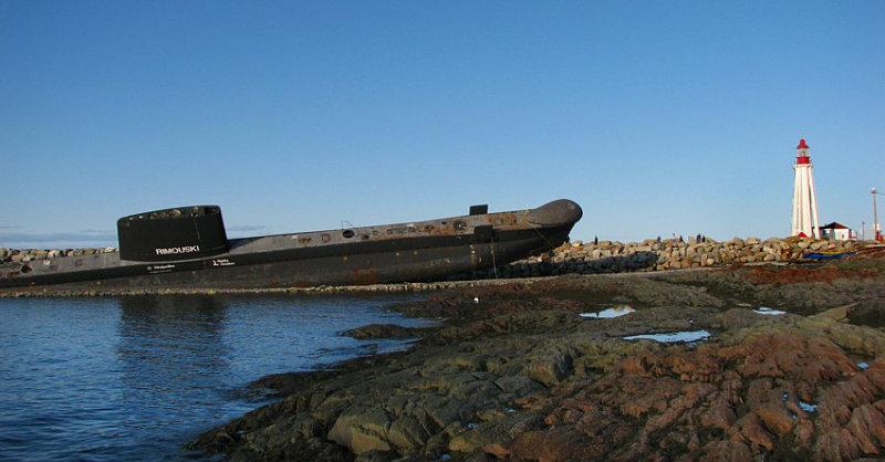 Sous marin su site historique maritime de Pointe-au-Père à Rimouski