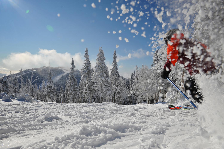 Descente de ski alpin sur le mont Tremblant