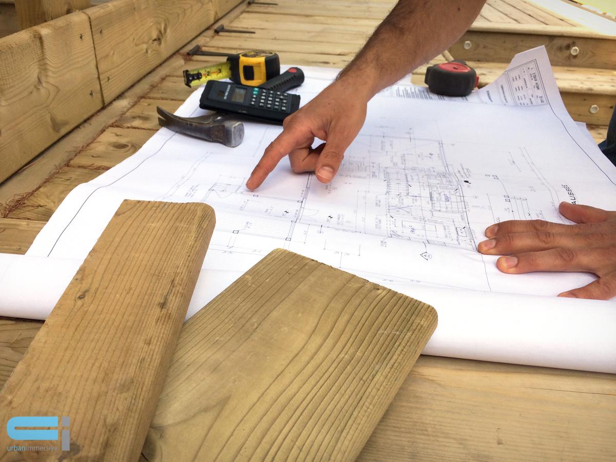Plan pour planification d'un projet de rénovation.