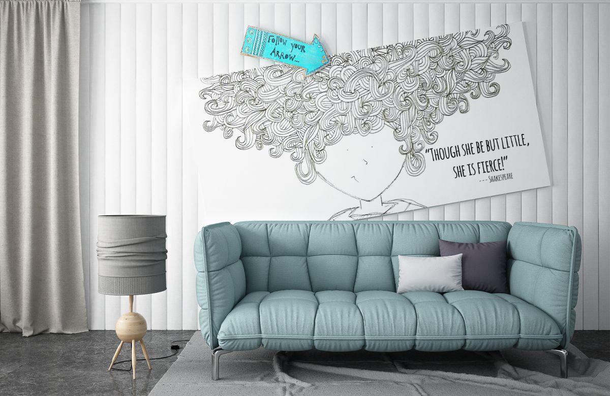 Petit salon décoré avec peinture de couleurs neutres