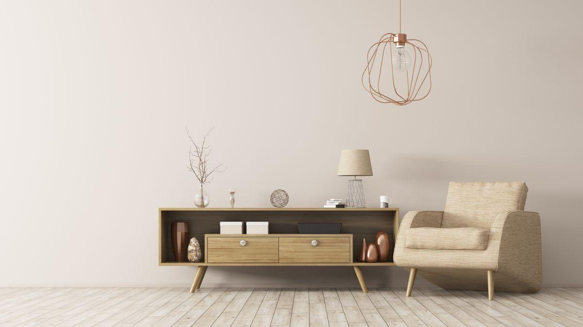 Petit salon décoré avec concept minimaliste