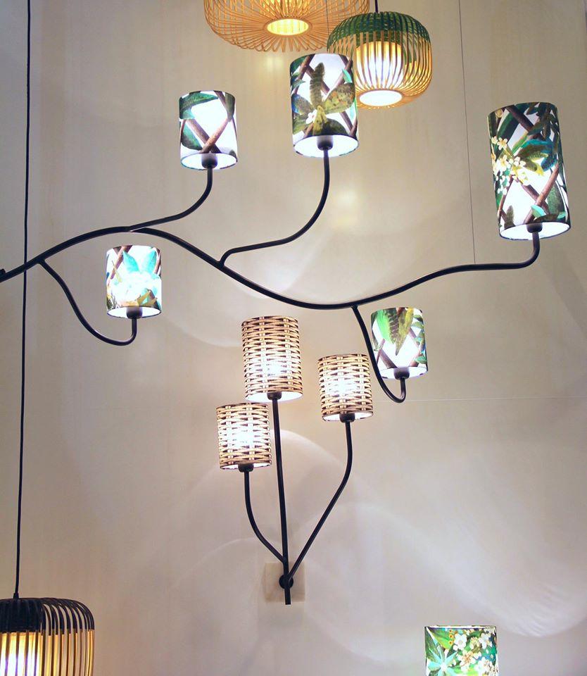 Exemple de luminaire murale et suspendu de la collection Christian Lacroix