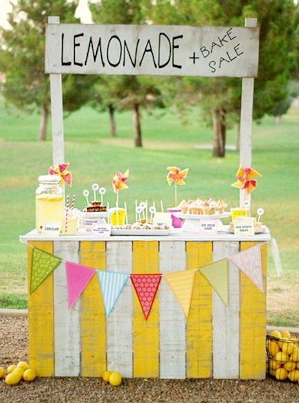 Kiosque de limonade pour amuser les enfants