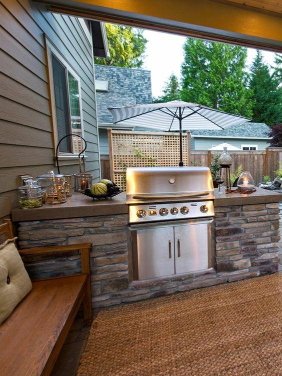 Amenager une cuisine exterieure cuisine exterieur metal - Amenager une cuisine exterieure ...