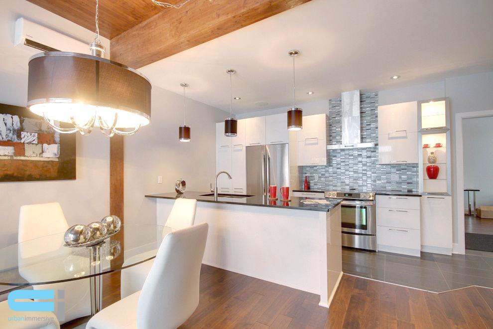 Cuisine salle à manger de style cuisine laboratoire