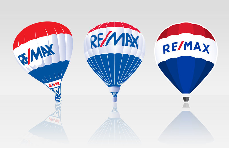 Logo rafraichie de RE/MAX à travers les ages