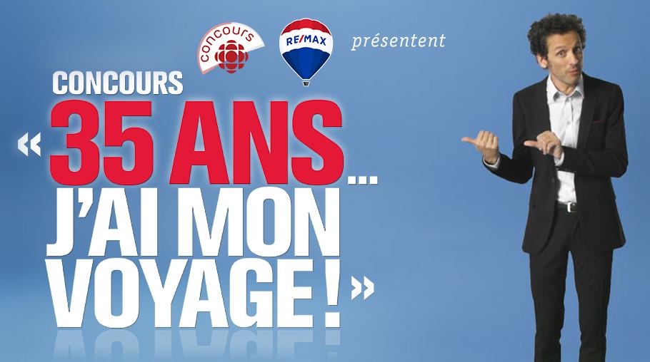 "Logo concours ""35 ans...j'ai mon voyage!"""