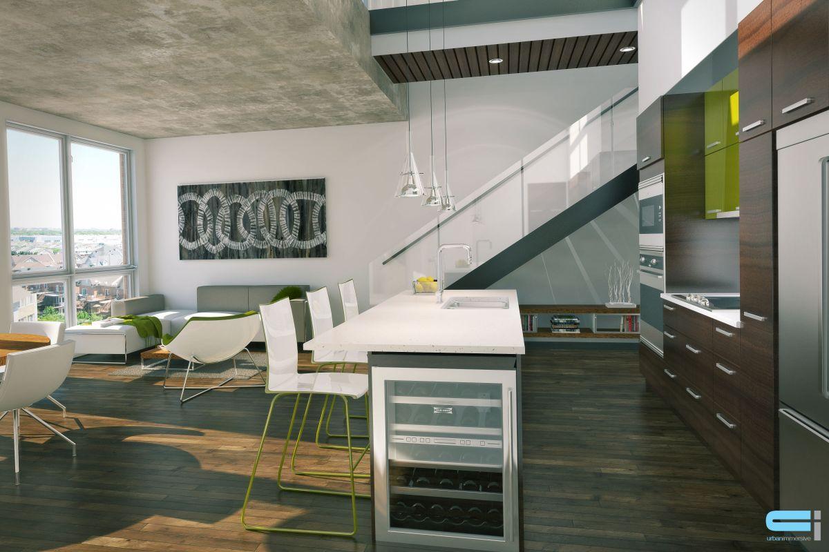 Petit cellier dans cuisine salle à manger