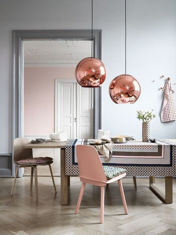 Luminaire de salle à manger en cuivre