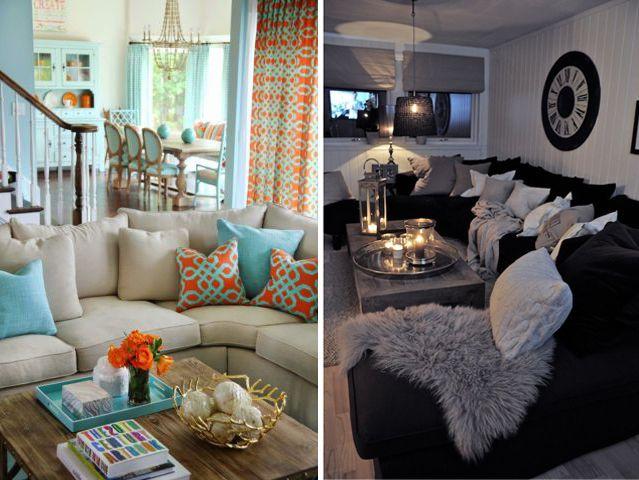 Salon décoré en couleur versus salon décoré en noir et blanc