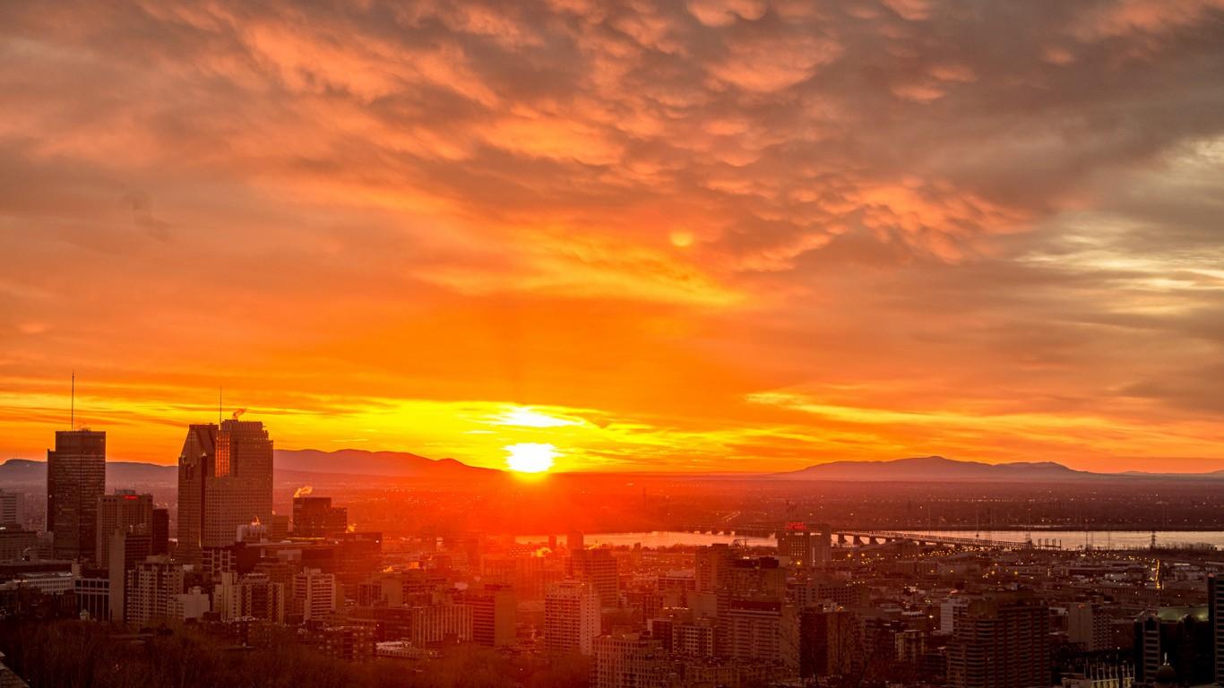 Coucher du soleil sur Montréal