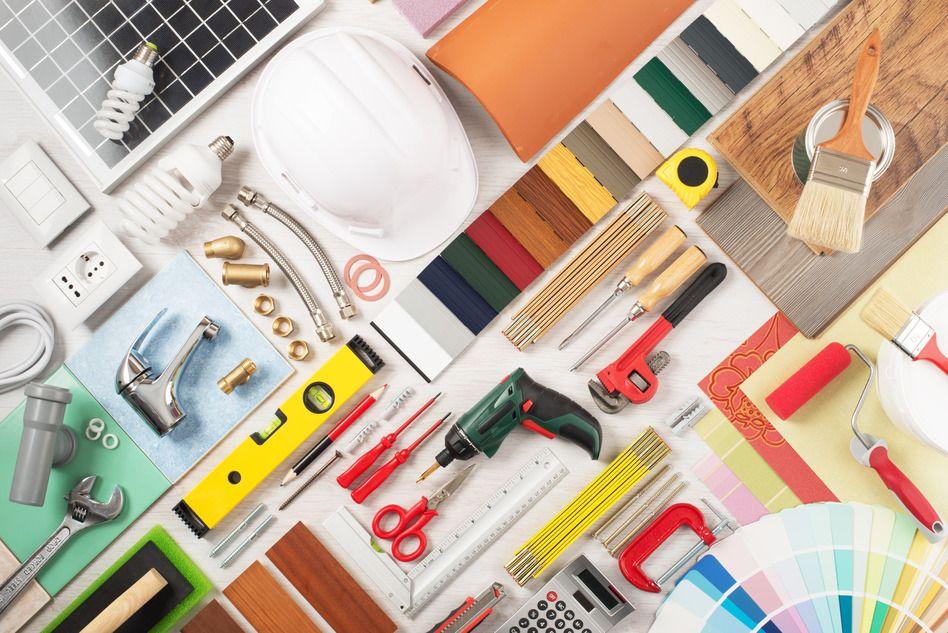 Outil et matériaux de rénovation