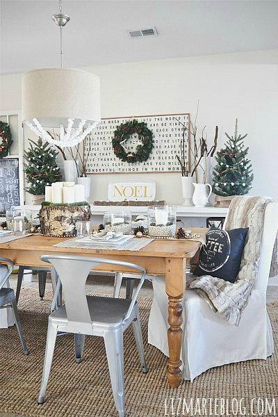 Salle à manger avec décoration de style scandinave
