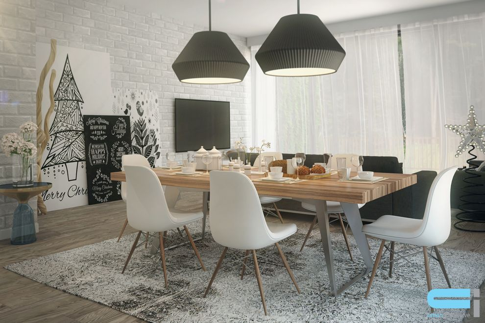 table salle a manger style scandinave. Black Bedroom Furniture Sets. Home Design Ideas