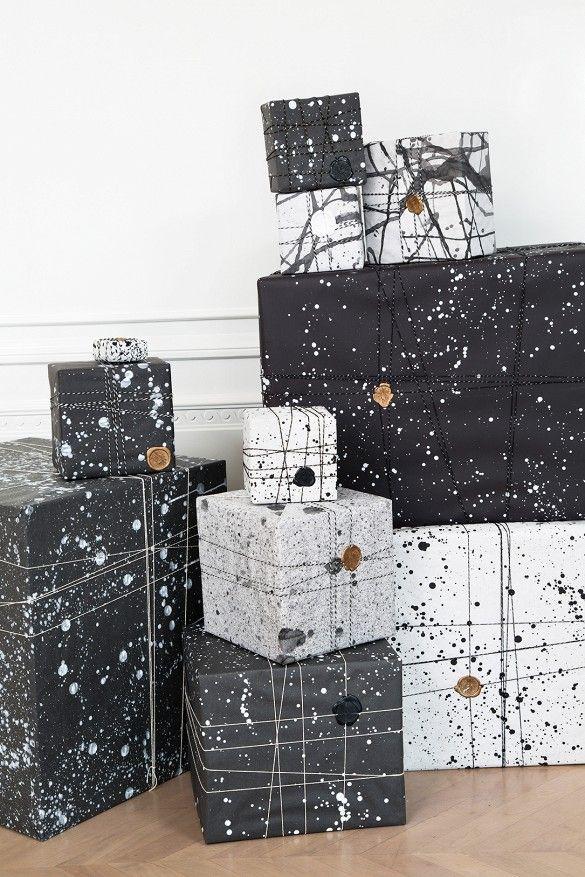 Emballage cadeau d'inspirqation scandinave
