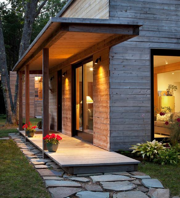 Porche de maison moderne en bois