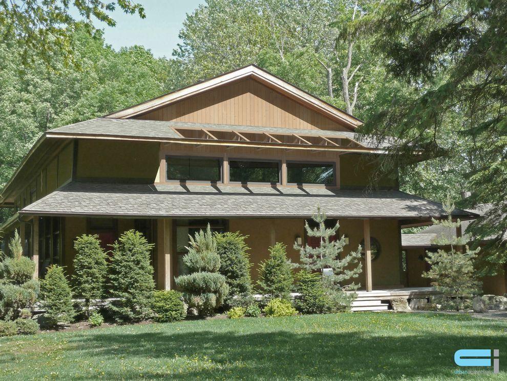 Maison de campagne de style contemporaine avec porche invitant