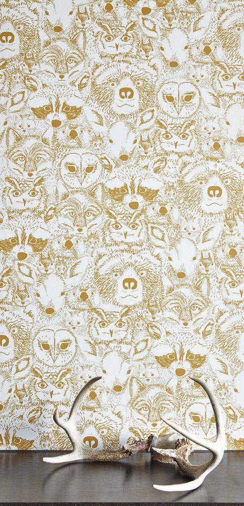 Tapisserie avec motifs d'animaux de la forêt